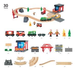 BRIO Feuerwehr Set Deluxe Inhalt