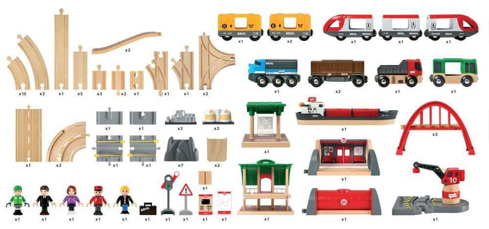 BRIO Straßen und Schienen Deluxe Set