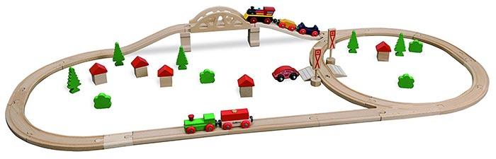 Eichhorn Eisenbahn Set (mit Brücke)