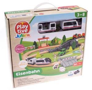 Playtive Holzeisenbahn Set Verpackung