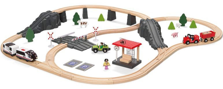 Playtive Holzeisenbahn Set Von Lidl 70 Teile Holzeisenbahn