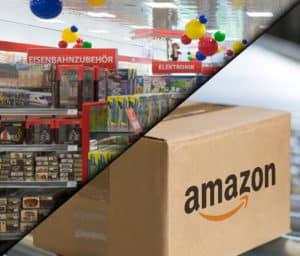 Holzeisenbahn bei Amazon oder Spielwarengeschäft kaufen?
