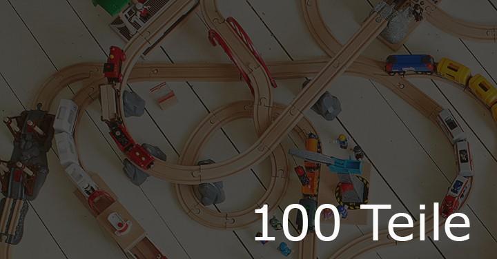 Holzeisenbahn mit 100 Teile