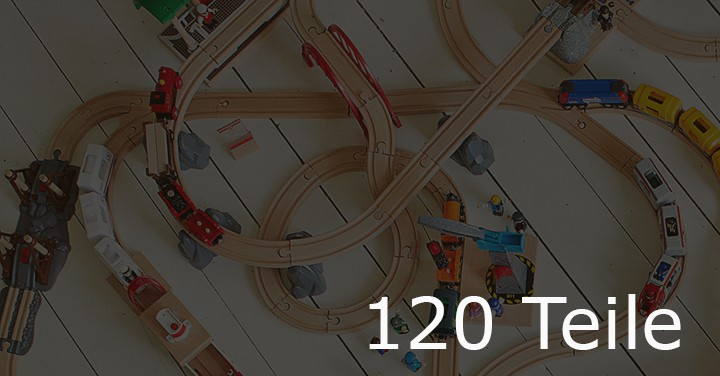 Holzeisenbahn mit 120 Teile