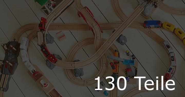 Holzeisenbahn mit 130 Teile