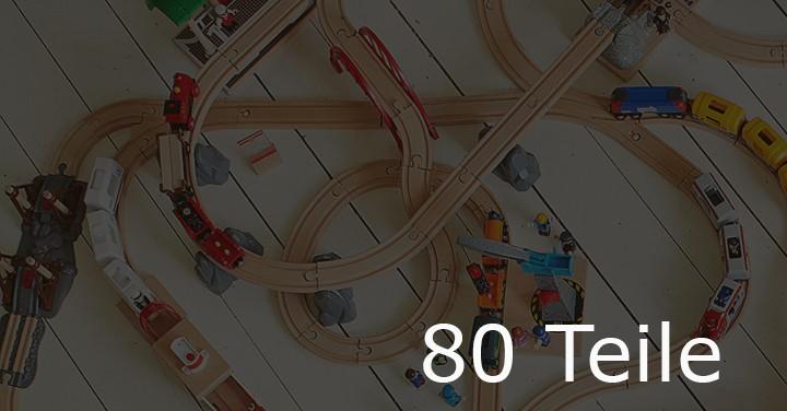 Holzeisenbahn mit 80 Teile