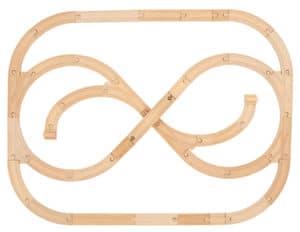 Holzeisenbahn-Strecke