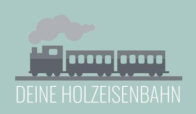 Das Logo einer Holzeisenbahn