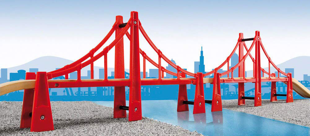 Die rote Hängebrücke von BRIO